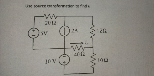 Use source transformation to find i0