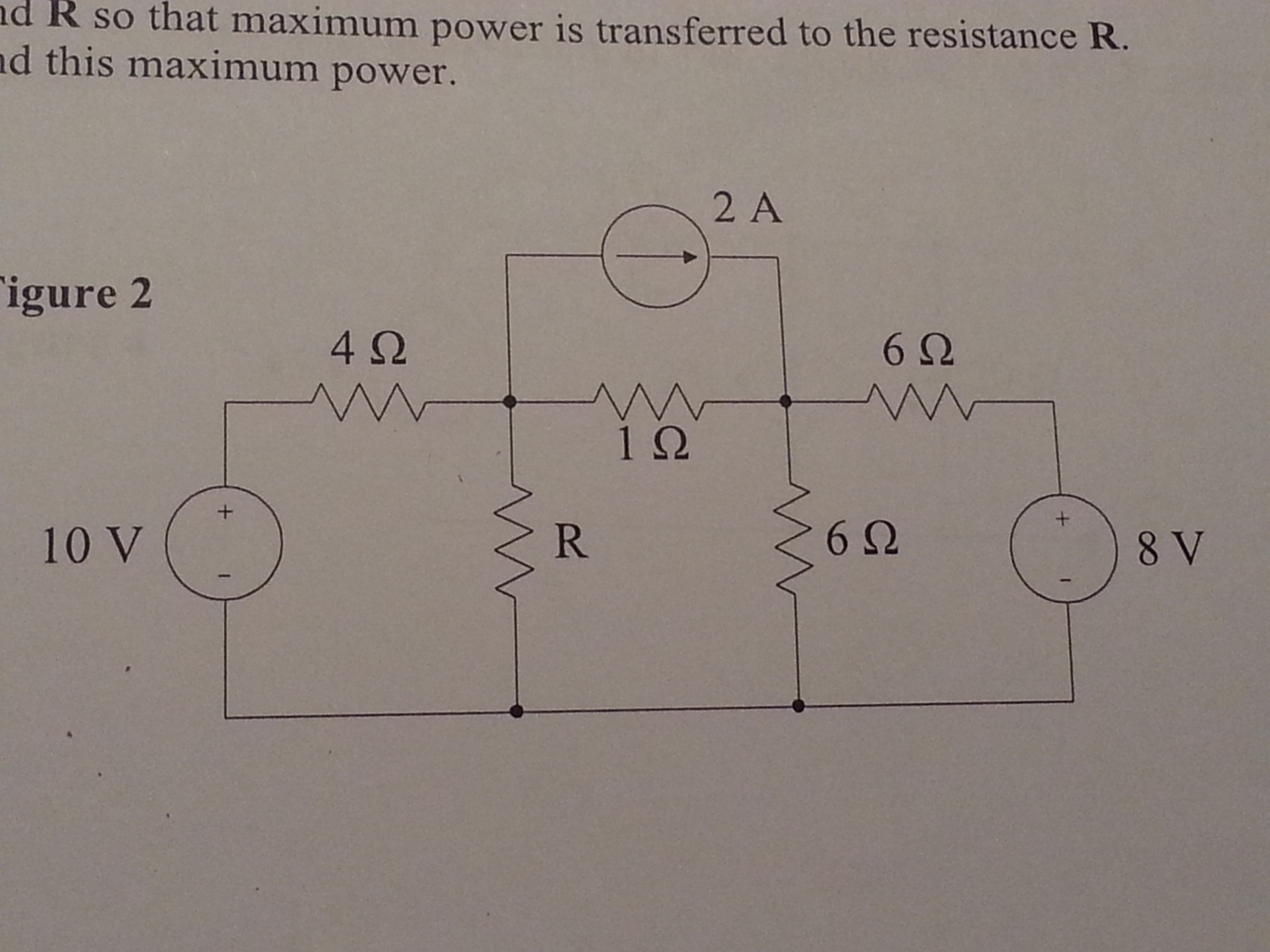R so that maximum power is transferred to the resi
