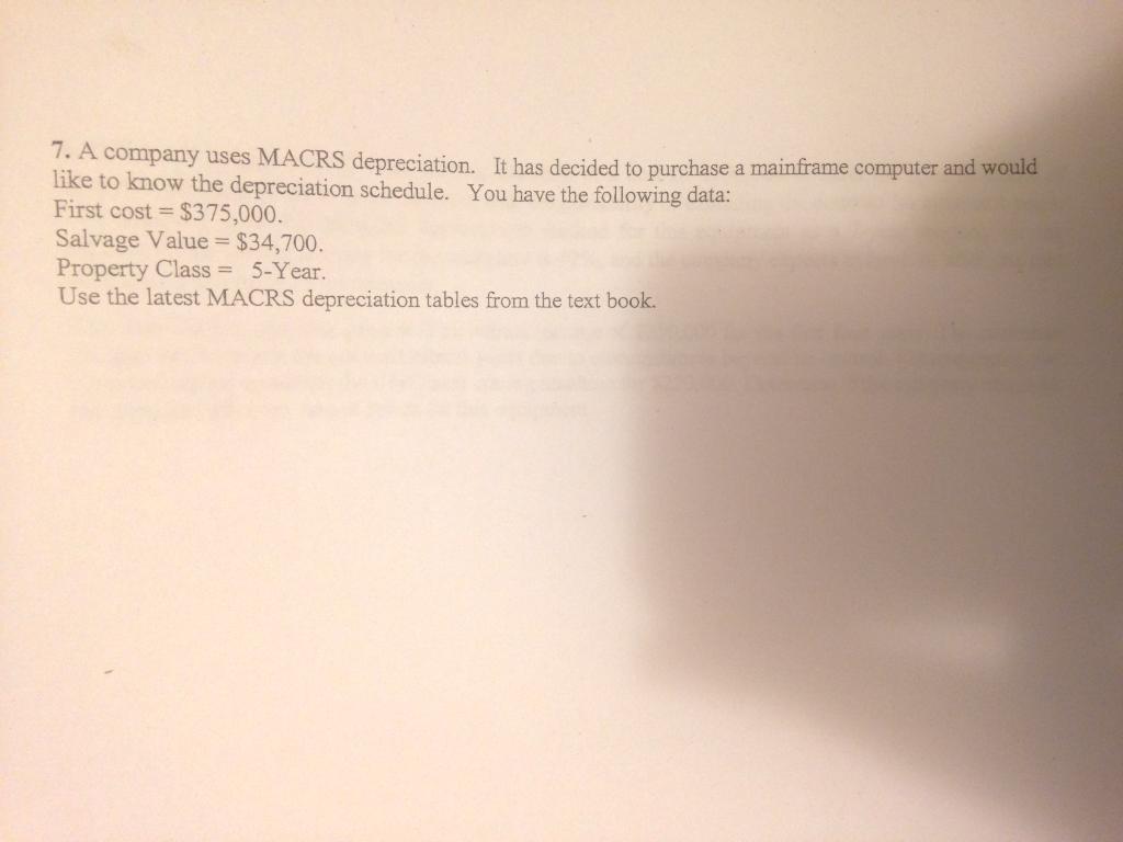 depreciation schedule for computers