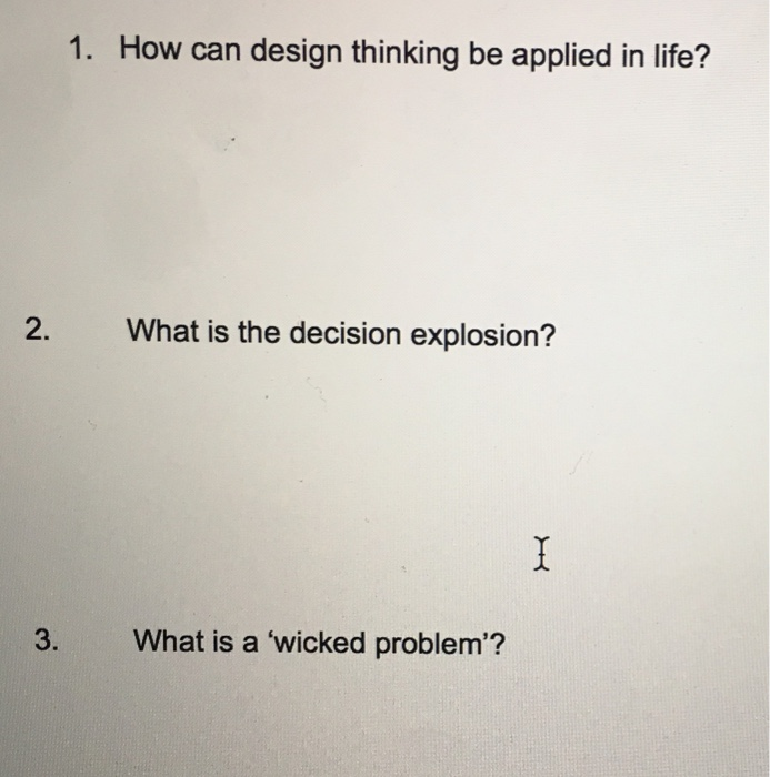 How can design thinking be applied in life? What