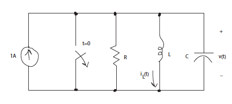 Consider the circuit below with R=25Ohm a. Compute