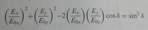 Let Eox = Eoy=1 in Equation 2.7 (below). Using a c