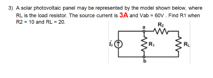 A solar photovoltaic panel may be represented by t