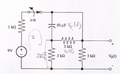 For the circuit shown below, assume that the switc