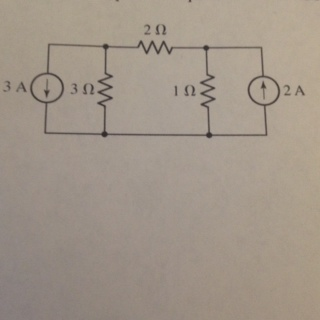 Calculate the power dissipated in the 1 ohm resist