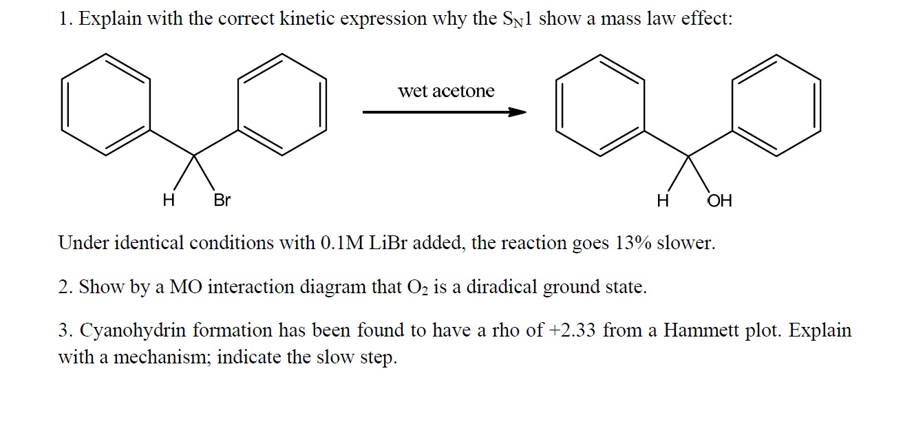 Explain with the correct kinetic expression why th