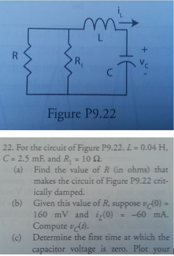Figure P9.22 22. For the circuit of Figure P9.22,