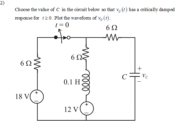 Choose the value of C in the circuit below so that