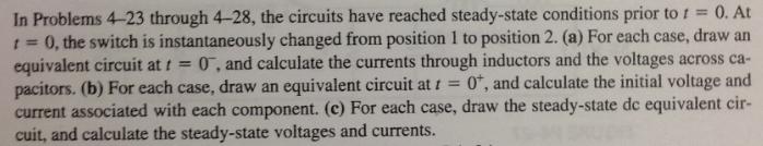 In Problems 4-23 through 4-28, the circuits have r