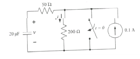 For the circuit shown below, determine the value o