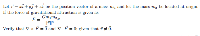 Let be the position vector of a mass m1 and let t