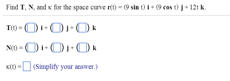 Vector calculus oriented curves homework solution