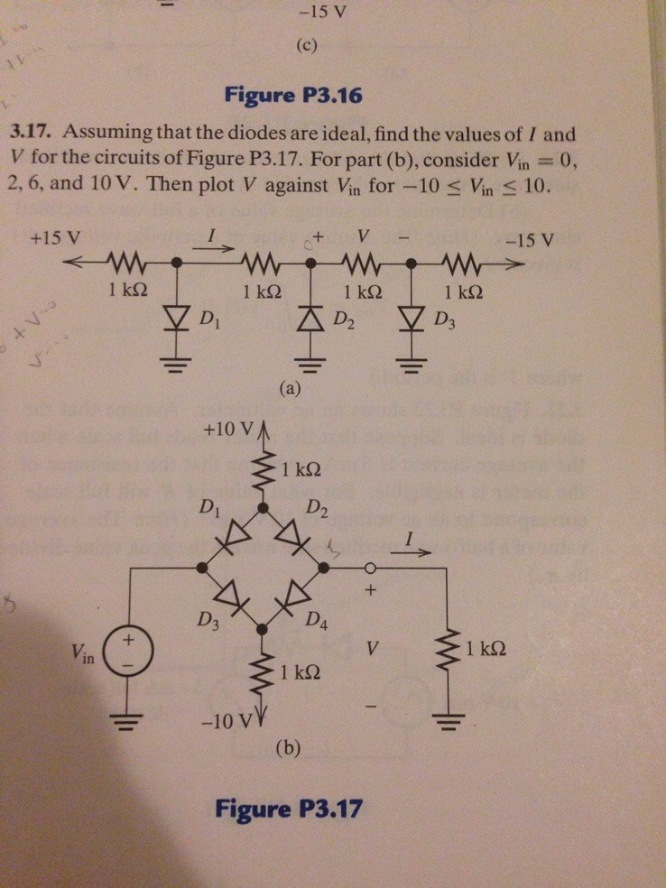 Assuming that the diodes are ideal, find the value