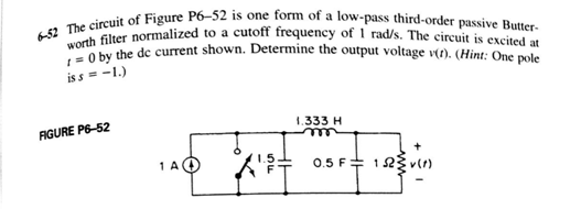 The circuit of Figure P6-52 is one form of a low-p
