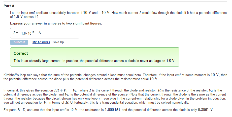 Solved Note I Just Need Part E Thanks A Half Wave Rect