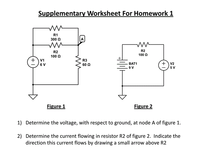 Determine the voltage, with respect to ground, at