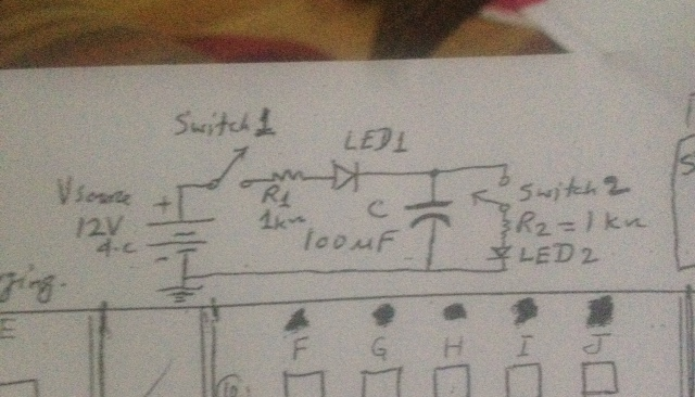 Look to the circuit diagram