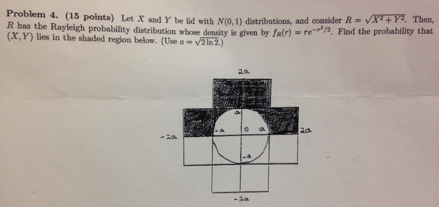 Let X and Y be lid with N(0,1) distributions, and