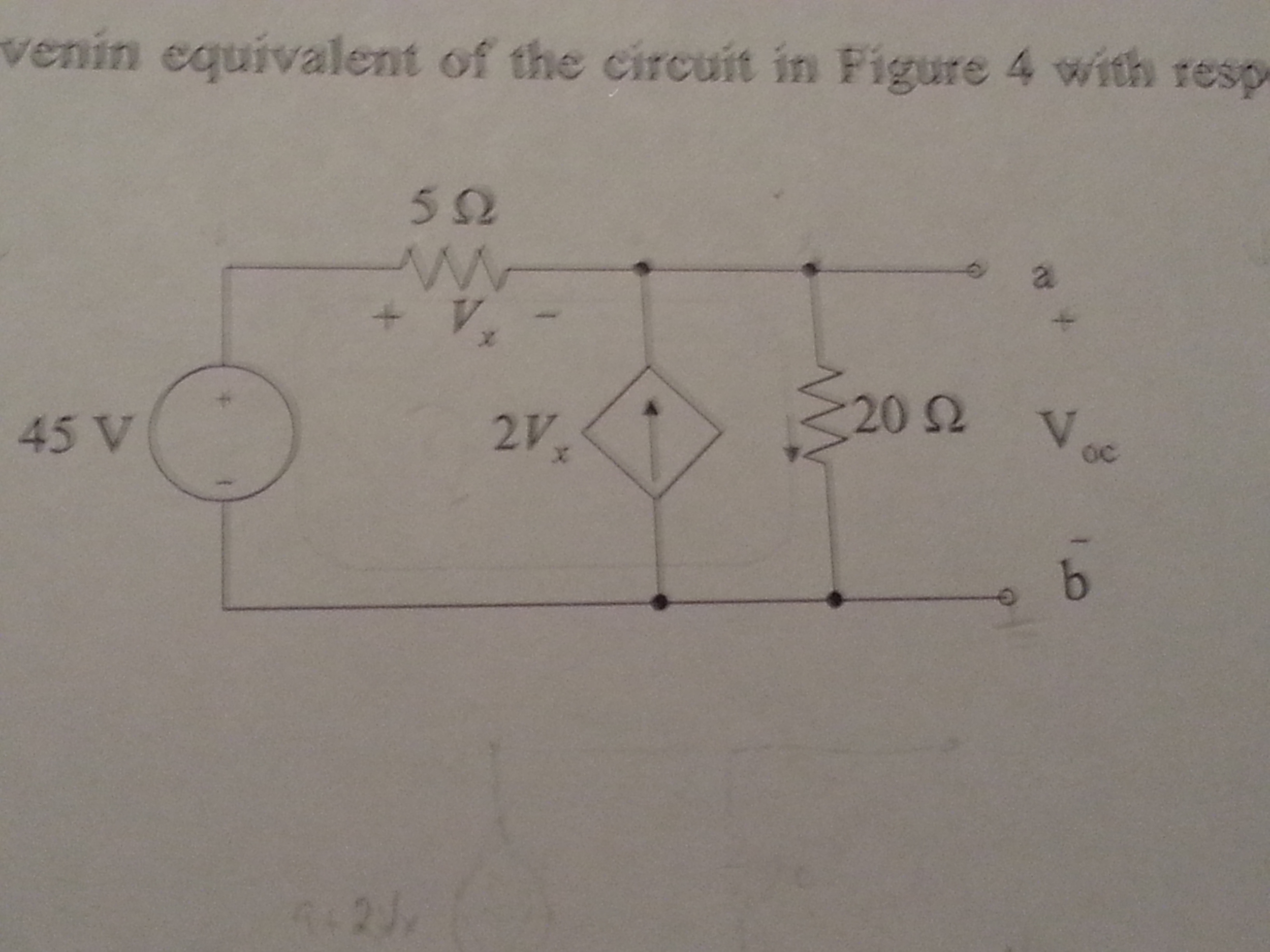 venin equivalent of the circuit in Figure 4 with r