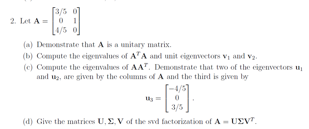 unitary matrix How to generate a random unitary matrix maris ozols march 16, 2009 contents 1 introduction1  in this sense unitary matrix is a natural generalization of an orthogonal matrix in fact, quantum physicists would say that unitary matrices are \more natural than orthogonal ones.