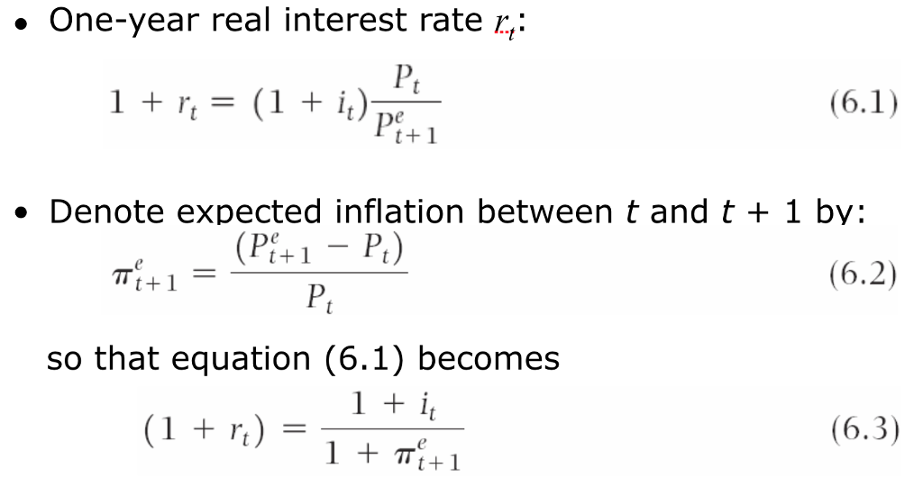 Real Interest Rate Formula