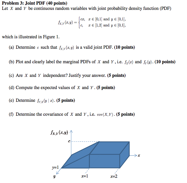 Joint PDF Let X and Y be continuous random variab