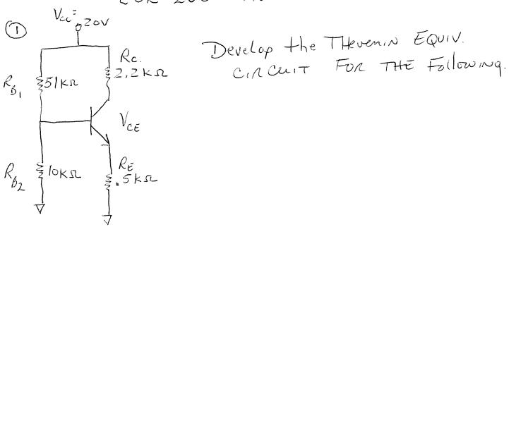 Develop the thevemin Equiv circuit for the followi