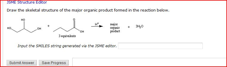 JSME Structure Editor Draw the skeletal structure