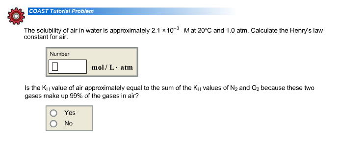The solubility of air in water is approximately 2.