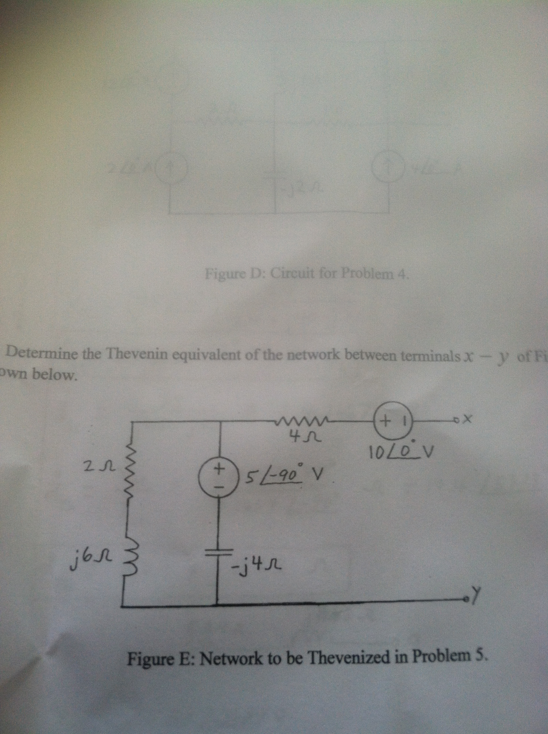 Determine the Thevenin equivalent of the network b