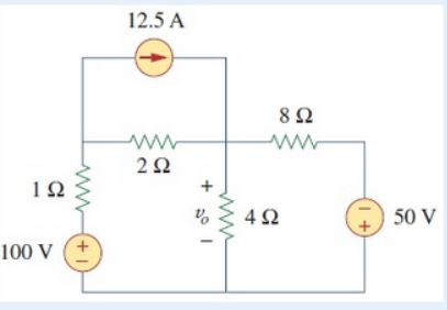 Use Thevenin's Theorem to find the voltage vo