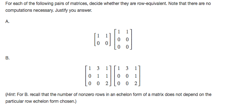 List All Possible Reduced Row Echelon Forms Of 3 X... | Chegg.com