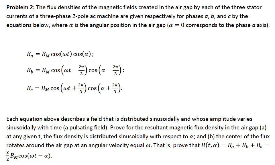 The flux densities of the magnetic fields created