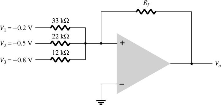 Calculate the output voltage developed by the circ