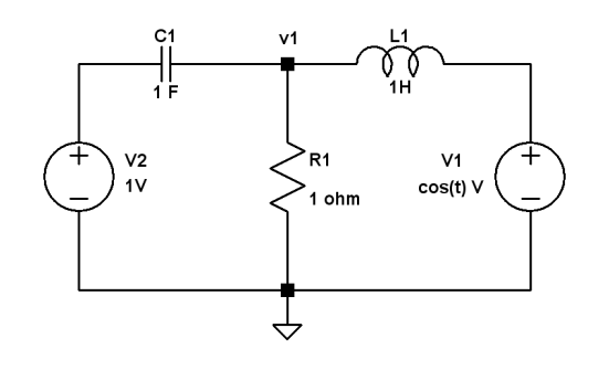 Find node voltage v1(t) in&nbs