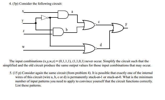 5. Consider again the same circuit (from problem 4