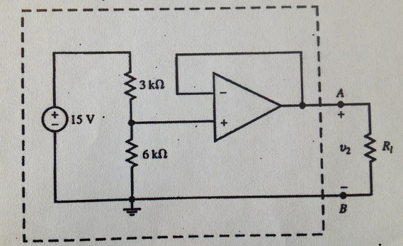 Find the Thevenin Equivalent of the circuit to the