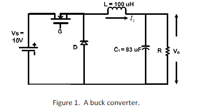 A buck converter is shown in Figure 1, the switchi