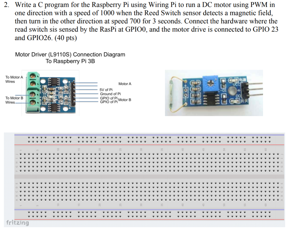 solved 2 write a c program for the raspberry pi using wi rh chegg com DC Motor Schematic DC Motor Schematic