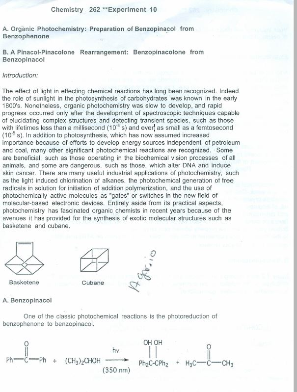 photochemistry photoreduction of benzophenone and rearrangement tobenzpinacolone Photochemistry photoreduction of benzophenone and rearrangement  tobenzpinacolone picosecond and nanosecond studies of the photoreduction of .