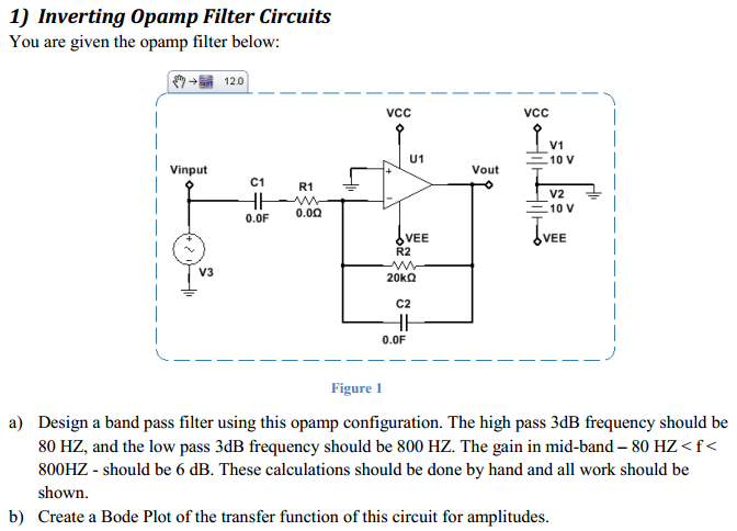 Inverting Opamp Filter Circuits You are given the