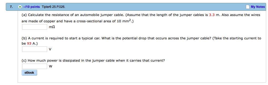Solved a calculate the resistance of an automobile jump question a calculate the resistance of an automobile jumper cable assume that the length of the jumper keyboard keysfo Gallery