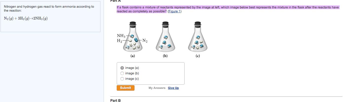 Nitrogen And Hydrogen Gas React To Form Ammonia Ac... | Chegg.com