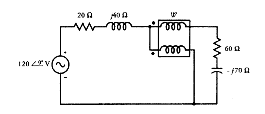 A wattmeter is connected in a circuit as shown in