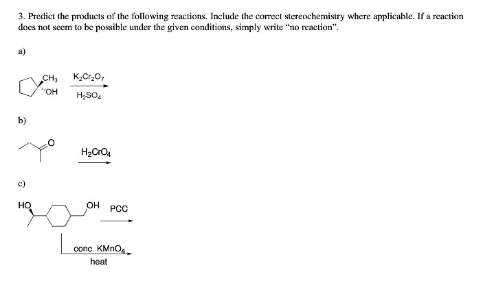 Predict the products of the following reactions. I