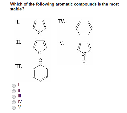 Which of the following aromatic compounds is the m