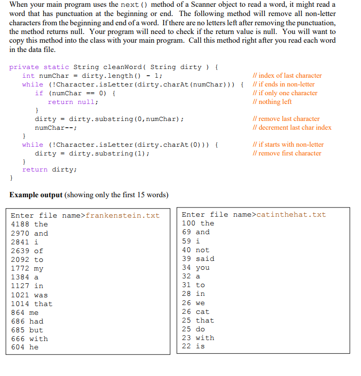 Solved: -Write In Java Write A Program That Reads A Text F ...