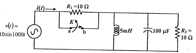In the network shown , a steady state is reached w