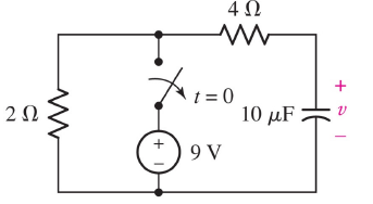 9-3--- In the following circuit, find the voltage