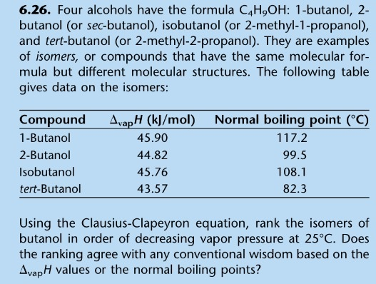 Four alcohols have the formula C4H9OH: 1-butanol,